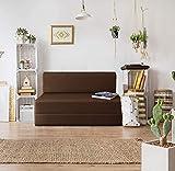Urban Wood 4x6 Feet High-Density Foam Sofa Cum Bed Furniture Two Seater Brown