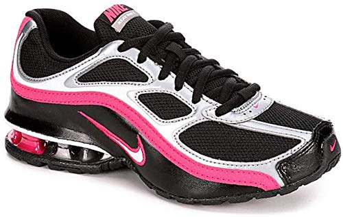 Nike Women's Reax Run 5, Running, White/Grey, M (9, Black/White/MTLC Cool Grey)