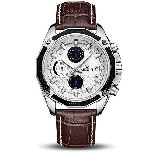 Orologio Cronografo da Uomo Movimento al Quarzo Moda Sportivo Watch 30M impermeabile Elegante Regalo...