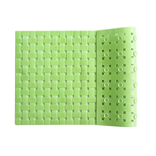 ALL PRIDE Bathtub and Shower Mat, Non Slip, Washable, Woven Design, Best Choice for Kids Bath Mat for Tub and Shower, 27 x15 Inch, Green