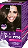 Schwarzkopf Perfect Mousse Permanente Schaumcoloration, 400 Dunkelbraun Stufe 3, 3er Pack (3 x 93...