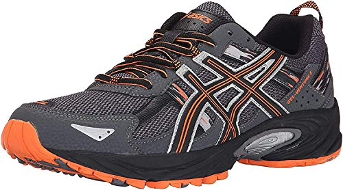 ASICS Herren Gel Venture 5 Laufschuh, (Carbon/Schwarz/Hot Orange), 43.5 EU
