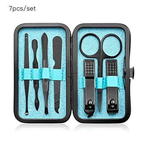XXX 7-teiliges Maniküre-Nagelknipser-Pediküre-Set Tragbares Reise-Hygieneset Nagelschneider-Werkzeugset aus Edelstahl, HHQ01877