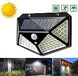 JP-LED Luce Solare Da Esterno Led Con Sensore Di Movimento【Alta Luminosità-Impermeabile...