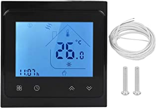 Smart Thermostat, Programmable Smart Thermostat for Heating Use Alexa LCD Touching Screen AC 95‑240V(Black)