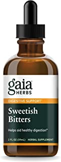 Gaia Herbs Sweetish Bitters Elixir, Liquid Supplement, 2 Ounce - Supports Digestion, Eases Bloating