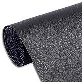 Myuilor Pegatinas de cuero para sofá autoadhesivos de reparación de cuero simulación de cuero utilizado en sofás, muebles, asientos de conductor (negro, 8.3 x 11.8 pulgadas)