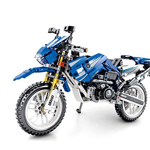 Intee Motorrad Modell Bausteine, 799 Stück Mountainbike Modell Motocross Modell Wettbewerbsfähige Motorrad Modell Bausteine Kompatibel mit Lego