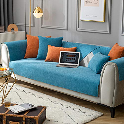Modernas fundas de sofá cama, chenilla premium, funda de sofá de tela antideslizante, funda universal para sofá para oficina, sala de estar, 90 x 180 cm