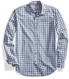 Amazon Brand - Goodthreads Mens Standard-Fit Long-Sleeve Gingham Plaid Poplin Shirt, Grey/White, XXX-Large
