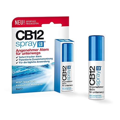CB12 Mint/Menthol Spray, bekämpft aktiv die Ursachen von Mundgeruch für 12 Stunden