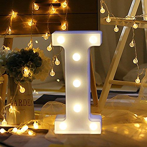 HSKB LED Buchstabe Lichter Alphabet,Alphabet LED Brief Lichter leuchten weiße Kunststoff Buchstaben Deko Alphabet Leuchtbuchstabe für Liebe Hochzeit Home Party Urlaub Bar Dekoration (Ohne Akku)