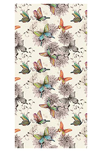 LimeWorks Badetuch, 70x140 cm, buntes Schmetterlings-Muster, Made in EU