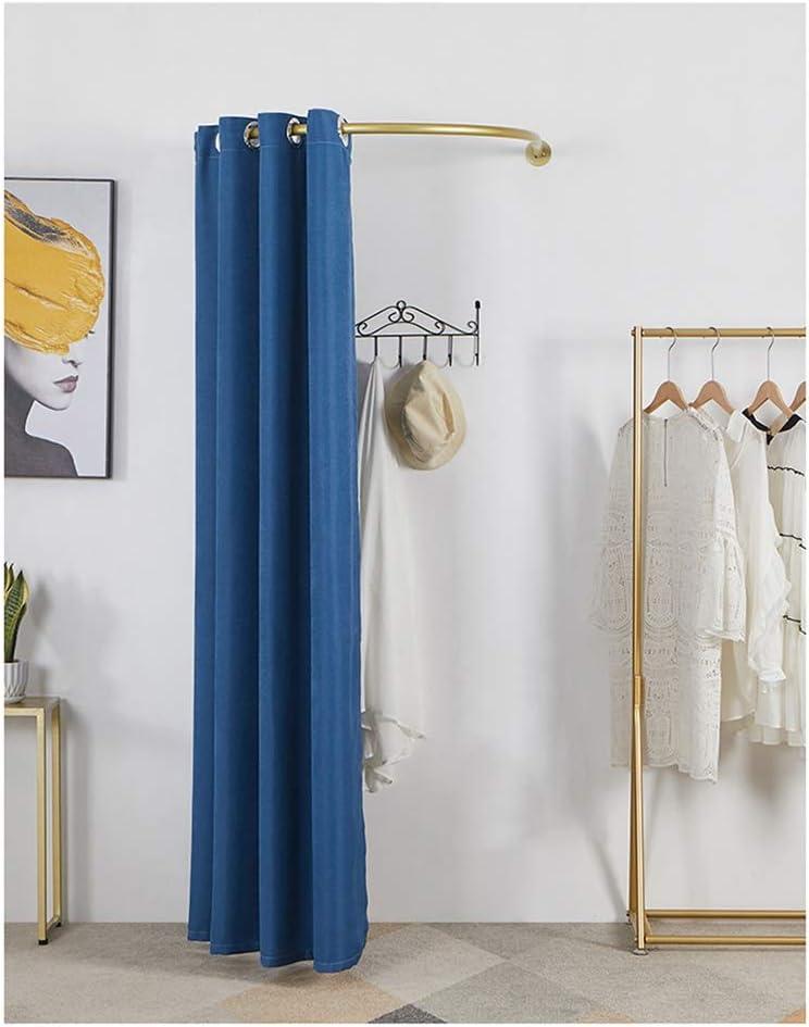 YJFENG Ranking TOP5 Popular product U-Shaped Rail Pole Dressing Room Store Temporar Clothing