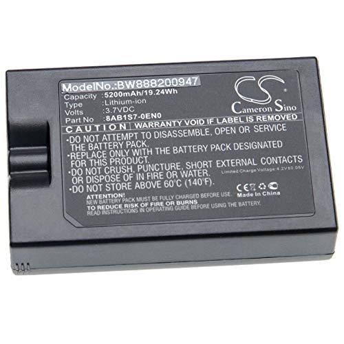 vhbw Batería recargable compatible con Ring 8VR1S7, Spotlight Cam, Video Doorbell 2 telefonillo, video-telefonillo (5200 mAh, 3,7 V, Li-Ion)