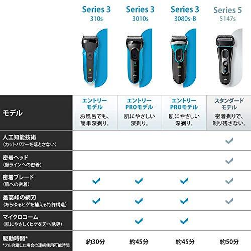 ブラウンシリーズ5メンズ電気シェーバー5147s4カットシステム水洗い/お風呂剃り可
