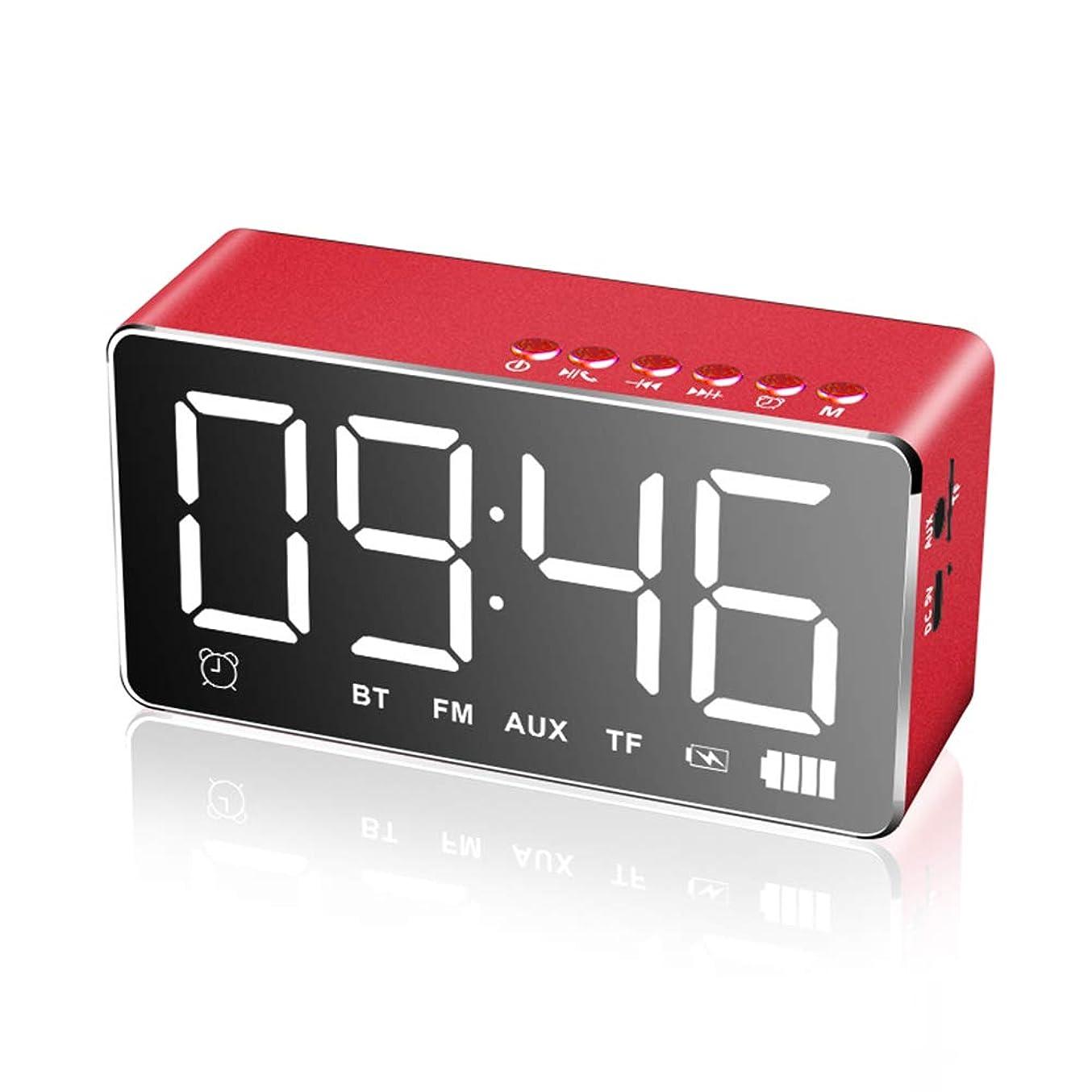 ストライクがんばり続ける警察デジタル目覚まし時計 FM ラジオと USB ポート充電温度計 LED デジタル目覚まし時計は、ベッドサイドの寝室のオフィスのためのタッチマルチ機能によって活性化,Red