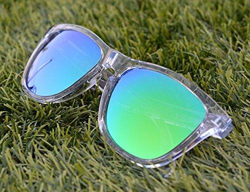 MZM Polarisierte Ersatzgläser für Oakley Frogskins (wählen Sie die Farbe) (Grün, Sapphire Green)