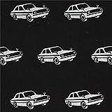 Schwarzes Wachstuch mit silbernen Autos von echino