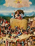 """Hieronymus Bosch LARGE Notebook #7: Cool Artist Gifts - The Hay Wagon Hieronymus Bosch Notebook College Ruled to Write in 8.5x11"""" LARGE 100 Lined Pages"""