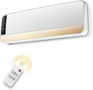 Radiador eléctrico MAHZONG 2KW Control Remoto Blanco eléctrico Puerta Superior e Inferior Calentador de Ventilador LED Pantalla eléctrico Puerta Ventilador Calentador
