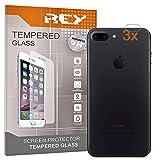 3X Protector de Pantalla para Cámara Trasera iPhone 8 Plus - iPhone 7 Plus, Cristal Vidrio Templado Premium