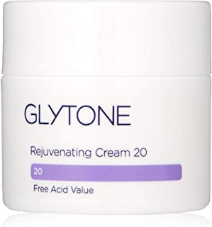 Glytone Rejuvenating Cream with 20 Free Acid Value Glycolic Acid, Moisturizer, Rich Creamy Emollient, Exfoliate, Normal to Dry Skin, 1.7 oz