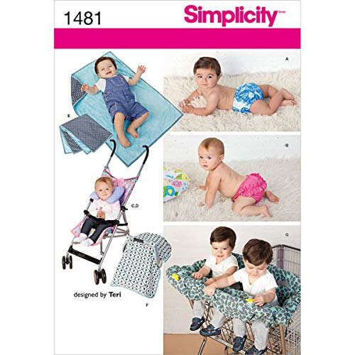 Simplicity 1481 Baby Accessories and Swimwear Sewing Patterns, Sizes 0-9 Months
