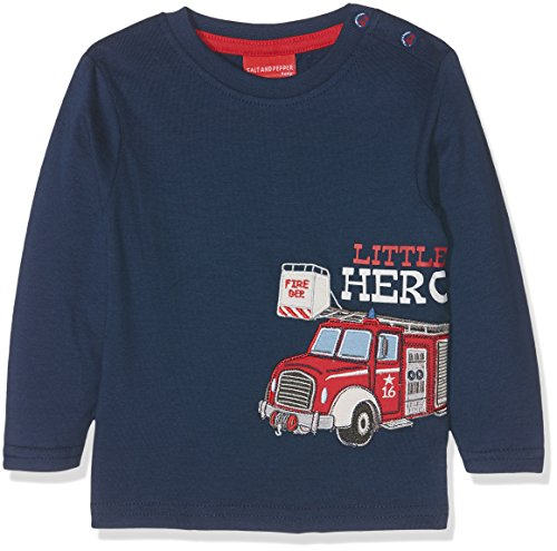 SALT AND PEPPER baby-jongens shirt met lange mouwen B Longsleeve Little Hero uni