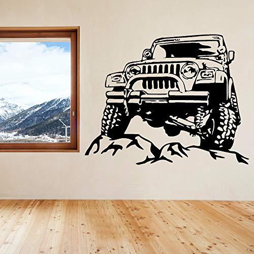 etiqueta de la pared decoración Vintage Suv Car All Terrain Vehicle Wall Art Sticker Decal for living room bedroom