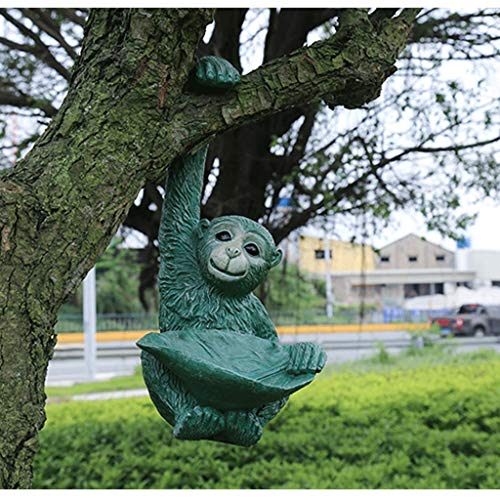 NYKK Ornamento de Escritorio La decoración del jardín al Aire Libre jardín pequeña Yarda Decoración de la Flor Decoración Stand Pequeño Mono Resina Creativa decoración artesanías decoración