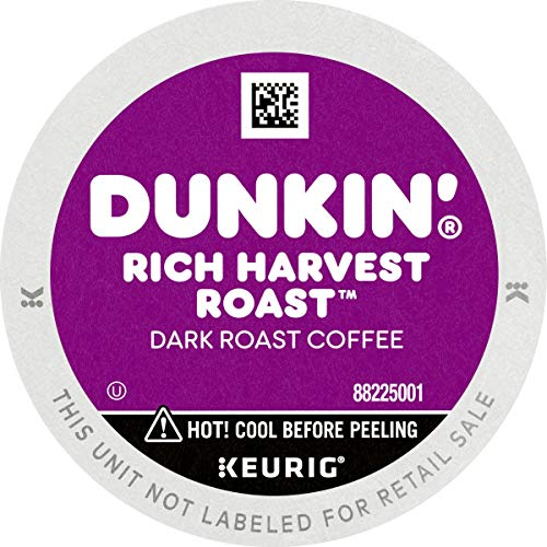 Dunkin' Rich Harvest Roast Dark Roast Coffee, 88 K Cups for Keurig Coffee Makers