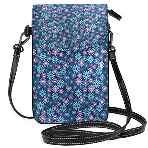 XCNGG Small Crossbody Coin Purse Cute Cartoon Phonepurse for Women Bags Leather Multicolor smart phone Bags Purse With Removable Strap