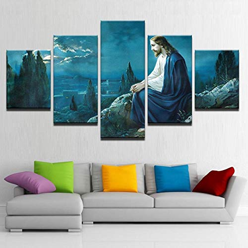 wmcz Lienzo Jesús Mirando por Encima de Jerusalén Decoración para e