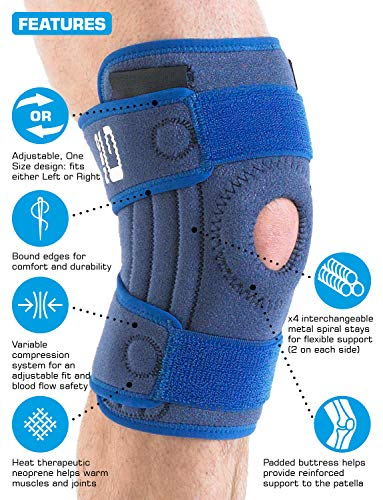 Neo G Knee Support, Stabilized Open Patella – For Arthritis, Joint Pain, Meniscus Tear, ACL, Running, Basketball, Skiing…