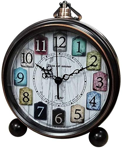 Nologo - Alarma de 5,5 pulgadas (metal, silenciosa), negro, 13.3x4.5x15.5cm