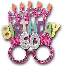 Amosfun 12 PZ Buon Compleanno Occhiali da Vista Cornici Colorate Occhiali Partito Festa di Compleanno Forniture per Bambini Cosplay Puntelli Festa di Travestimento Modello Assortito