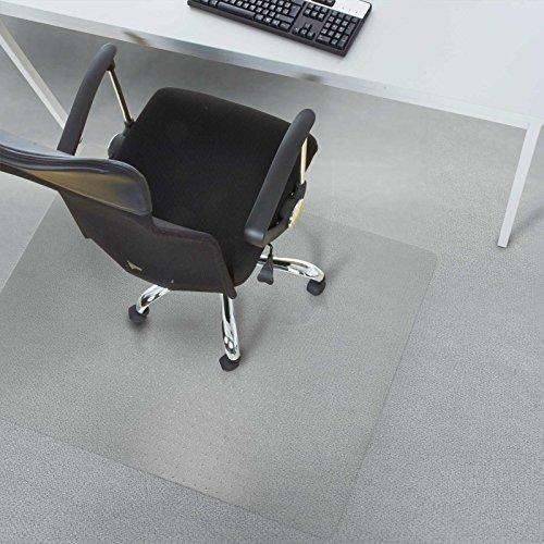 "Office Marshal Chair Mat, PVC, 40"" x 48"" - Carpet Floor Protector, Low/Medium Pile | Clear, Studded, Rectangular"