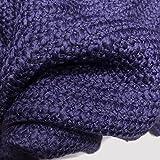 Tela decorativa por metros, color morado oscuro, lana de lana, para tejer, no elástica, 0,5 m