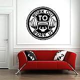 JHGJHGF Gym Logo Stickers Muraux Entraînement Fitness Art Portes et Fenêtres Autocollants en Vinyle Club Décoration Intérieure Bodybuilding Murale
