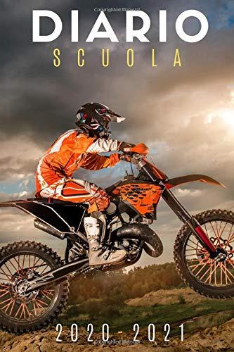 diario scuola 2020 2021 motocross: diario scolastico 2020 2021 moto - agenda settimanale 2020 2021 - settembre 2020 2021 - calendario - materiale scolastico elementare superiori medie