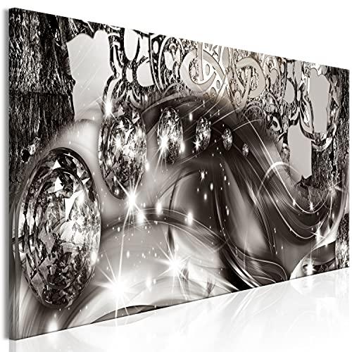 murando Quadro Ornamento 150x50 cm 1 pezzo Stampa su tela in TNT XXL Immagini moderni Murale Fotografia Grafica Decorazione da parete Modello orientale Diamante Astratto argento bokeh a-A-0793-b-a