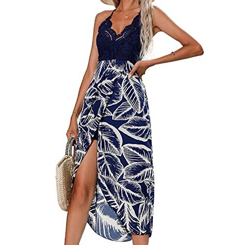 UMIPUBO Trajes de Baño Cubrir Mujer,sin Tirantes Pareos Playa Vestido Mujer Sexy Ropa de Playa de Verano Bikini Cover Up Vestido de Playa Bikini Cubrir (Azul, L=ES38-ES40)