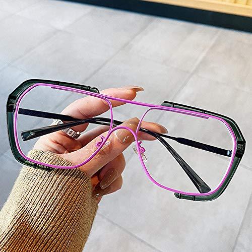 Occhiali da Sole Occhiali da Sole Quadrati Vintage A Doppio Ponte per Donna Occhiali da Vista Color Caramello in Lega Occhiali da Sole Eleganti con Le
