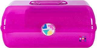 Caboodles On-The-Go Girl Hot Pink Sparkle Jellies Vintage Case, 1 Lb