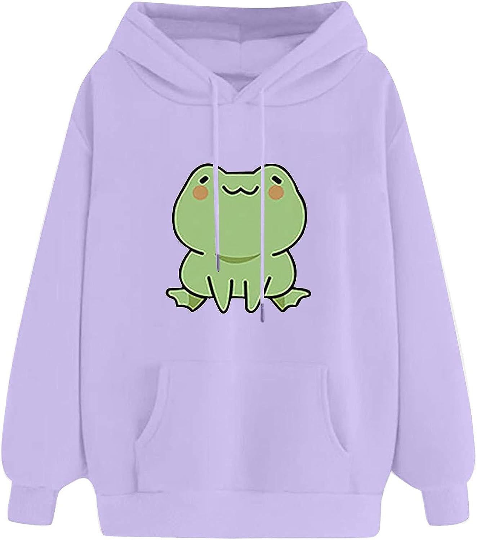 Women's New Cheap bargain Shipping Free Casual Cute Cartoon Animal Long Ho Pullover Sleeve Print
