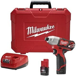 Milwaukee Electric Tool 2462-22 Milwaukee M12 Cordless Impact Driver Kit, 12 V