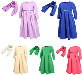 be8eed0c4edce 1-13 Ans Baby Enfant Fille Robe Longue Abaya Islamique Musulmane 3 Pcs  Ensemble de