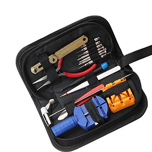 Vvciic 16Pcs Uhr-Werkzeug-Ersatzteile Uhr-Werkzeug-Kit Uhr Opener Verbindungpin-Remover-Set Federsteg Uhrmacherei Werkzeuge Reparatur