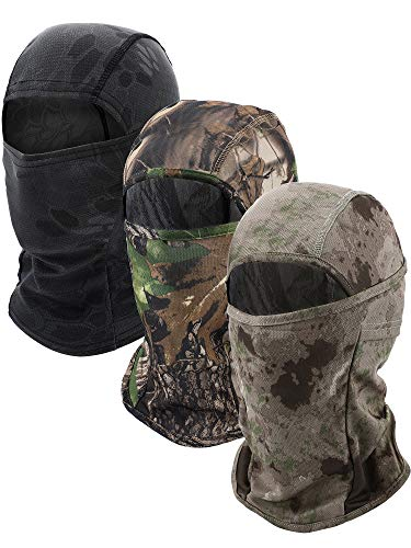 3 Pieces Balaclava Mask Motorcycle Windproof Camouflage Fishing Face Cover (Color Set 2)